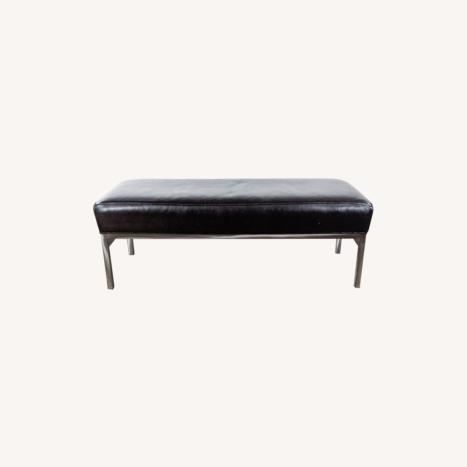 Room & Board Leather and Steel Bench  - image-0