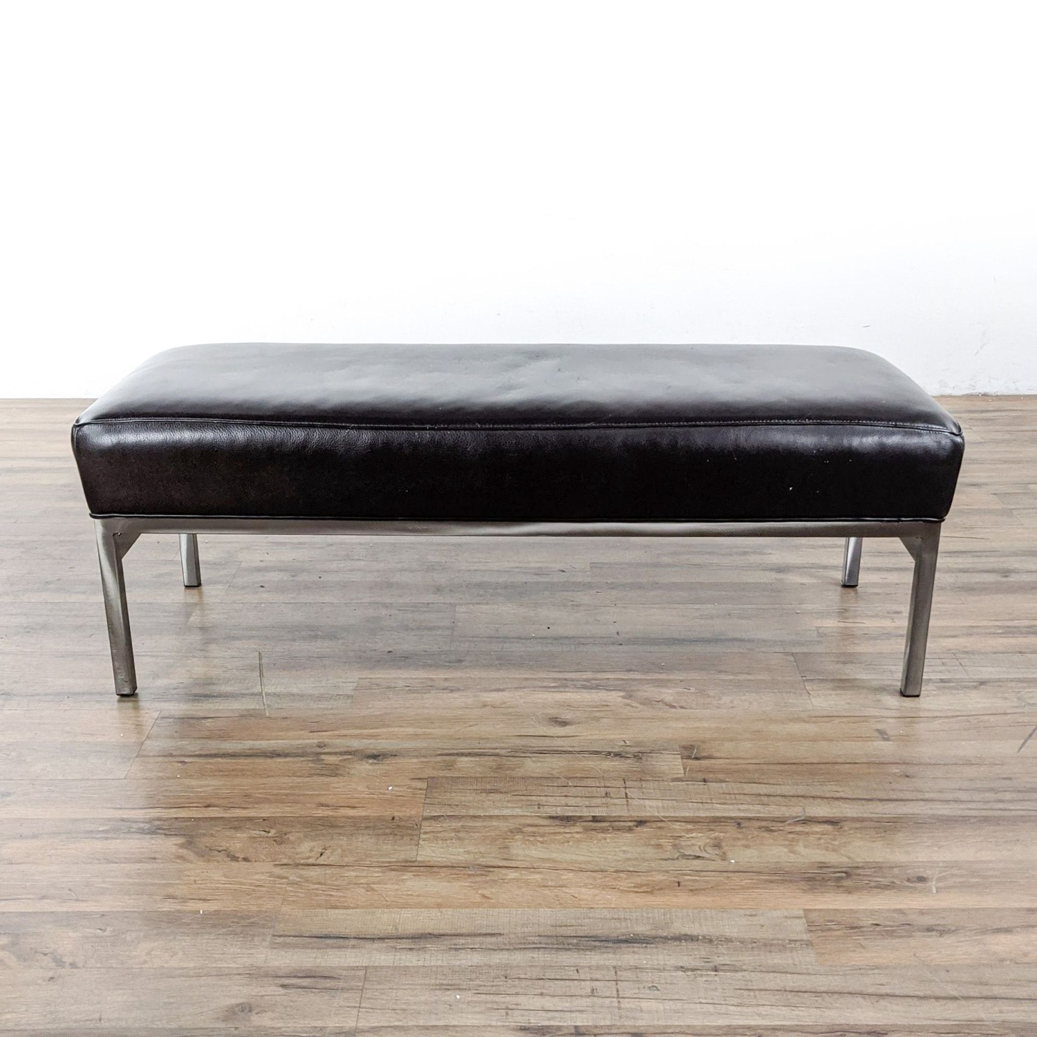 Room & Board Leather and Steel Bench  - image-4