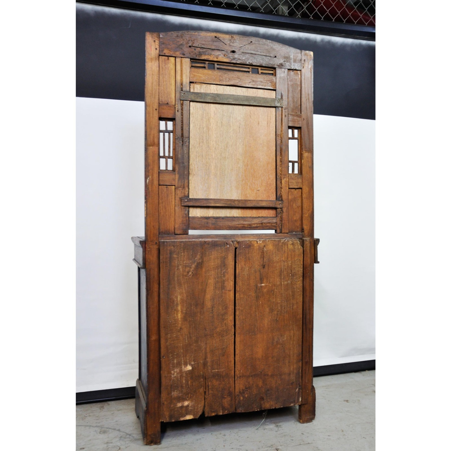 Indigo Hand Painted Entry Hall Cabinet With Mirror - image-7