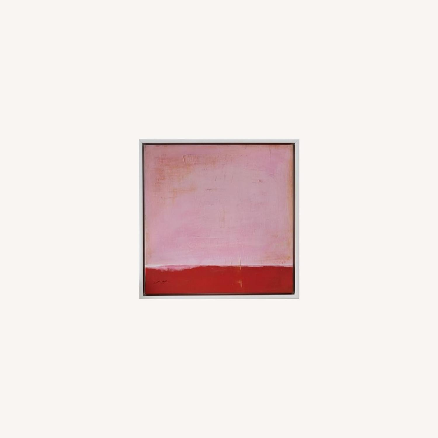 West Elm Red on Pink by Laura Gunn 24 x 24 - image-0