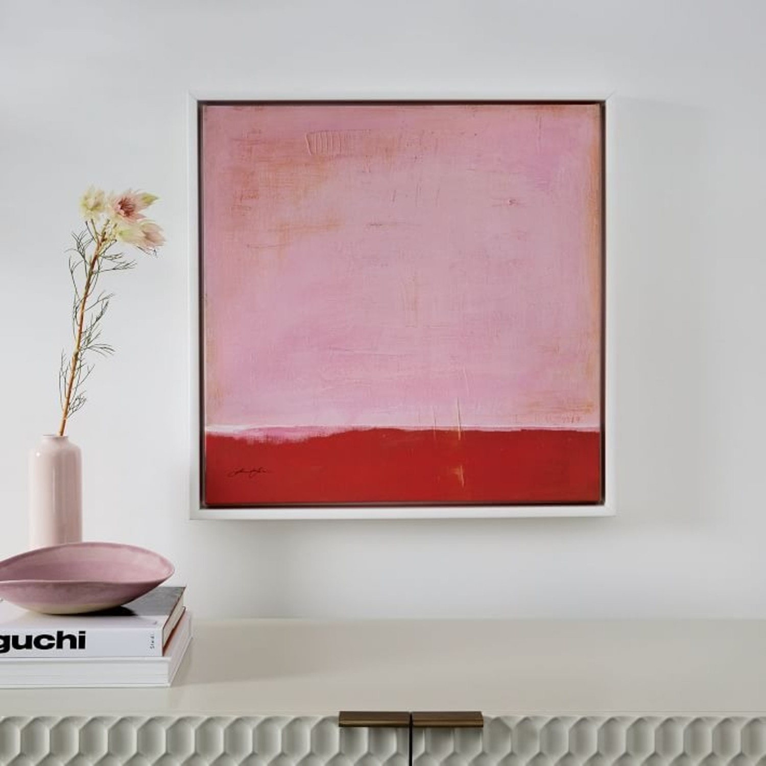 West Elm Red on Pink by Laura Gunn 24 x 24 - image-1