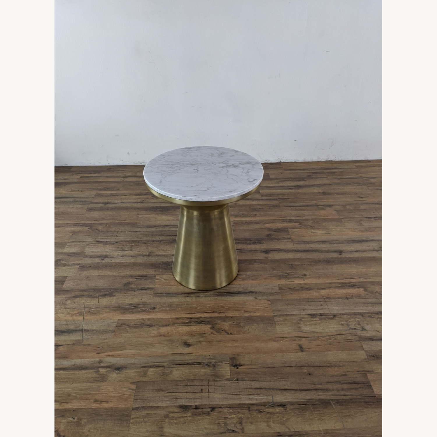 West Elm Marble Topped Pedestal End Table - image-6