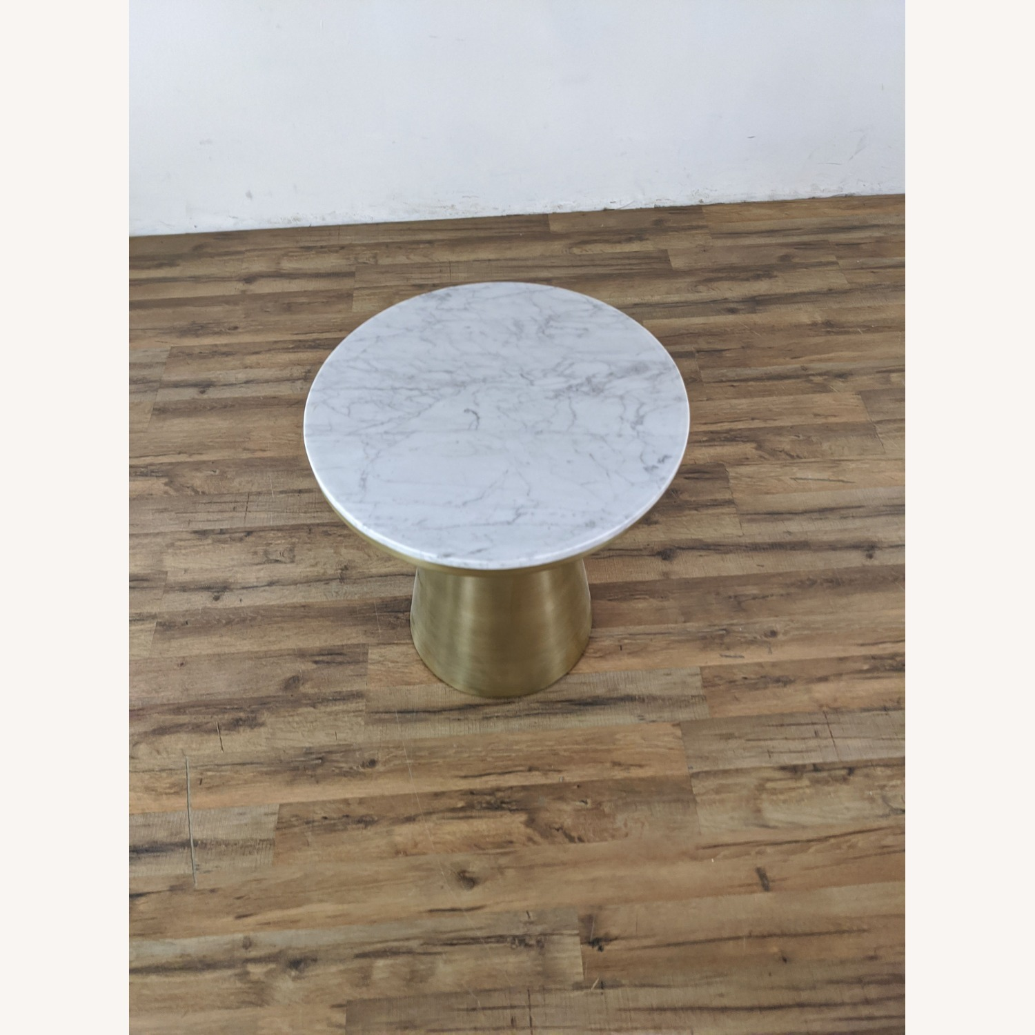 West Elm Marble Topped Pedestal End Table - image-2