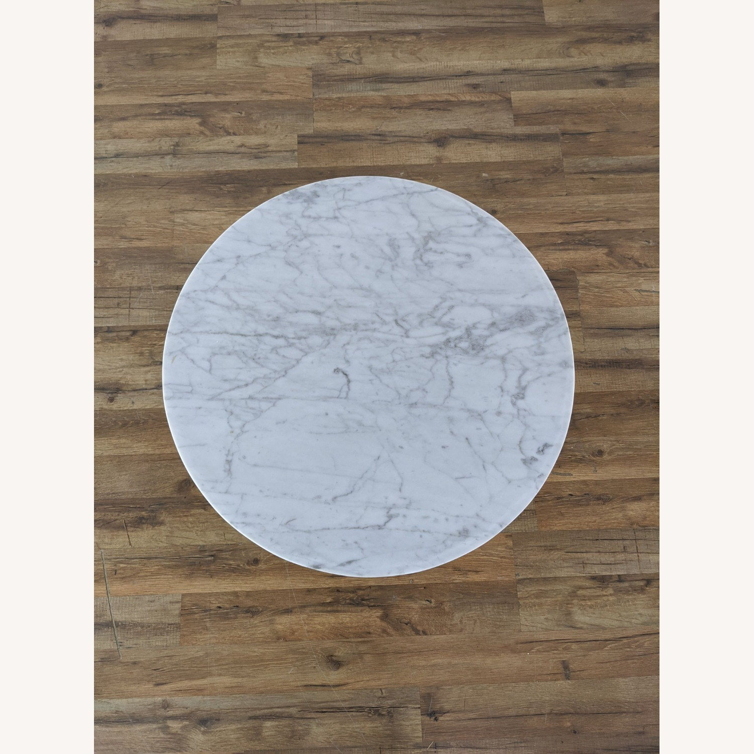 West Elm Marble Topped Pedestal End Table - image-7