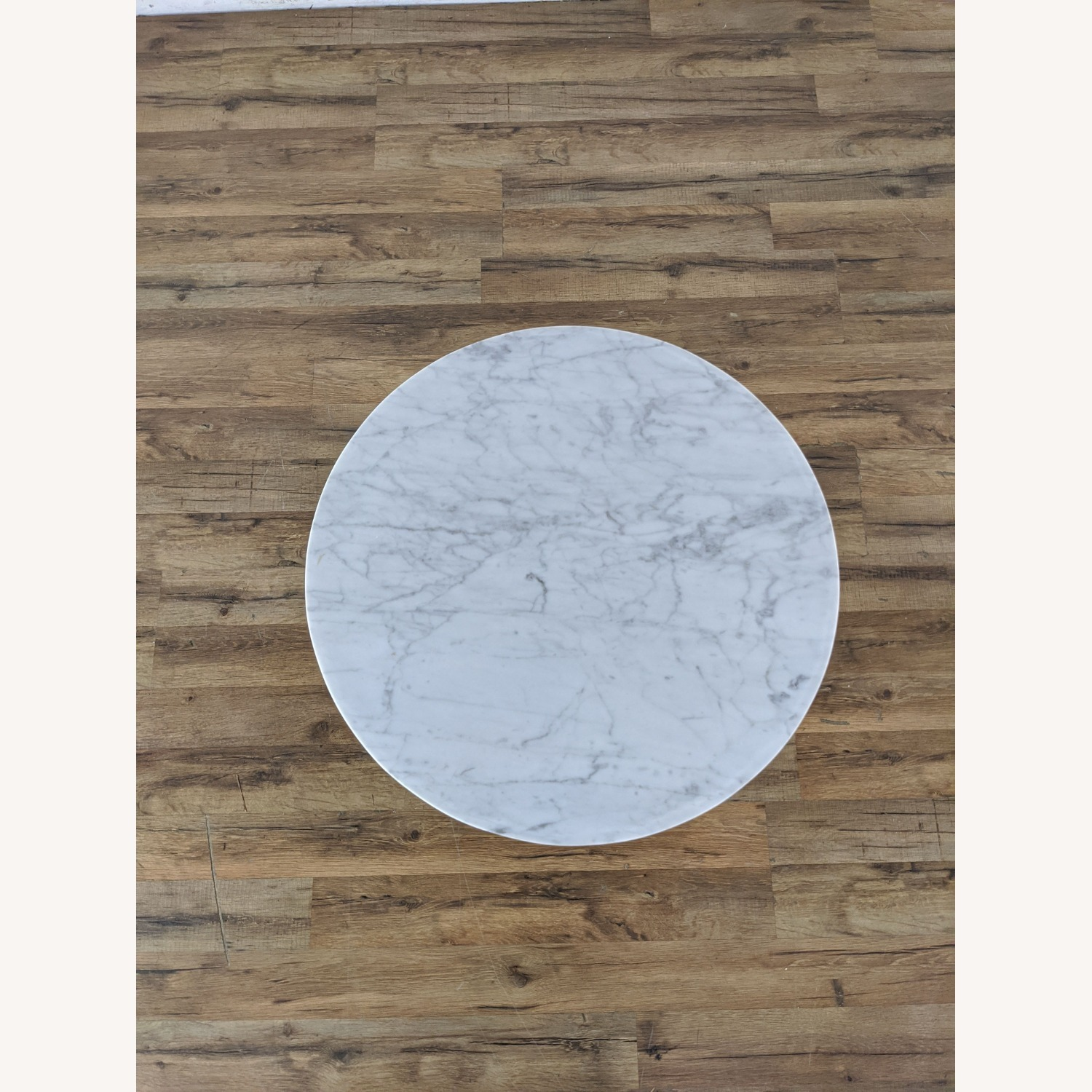 West Elm Marble Topped Pedestal End Table - image-3