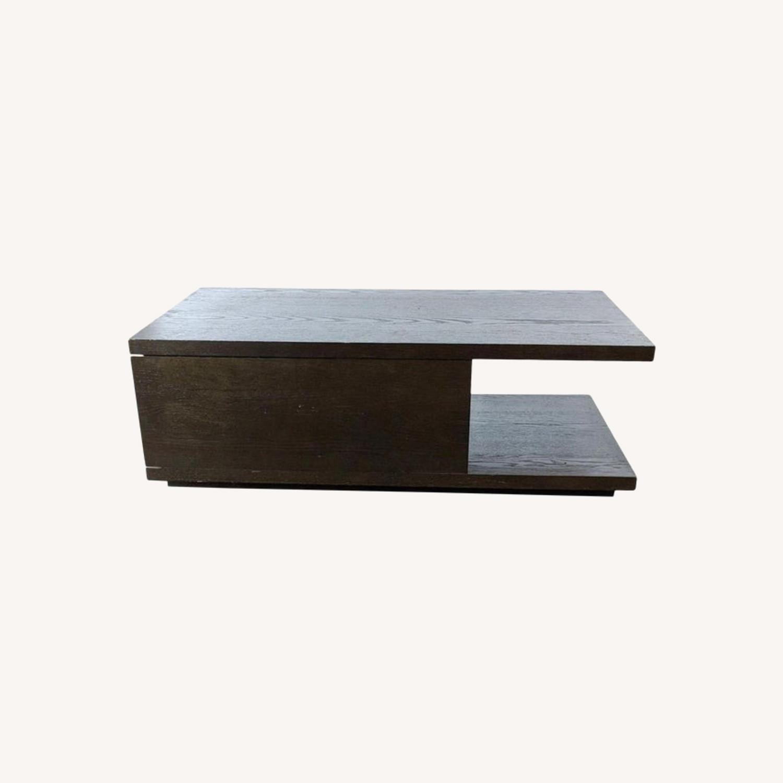 West Elm Sliding Top Storage Coffee Table - image-0