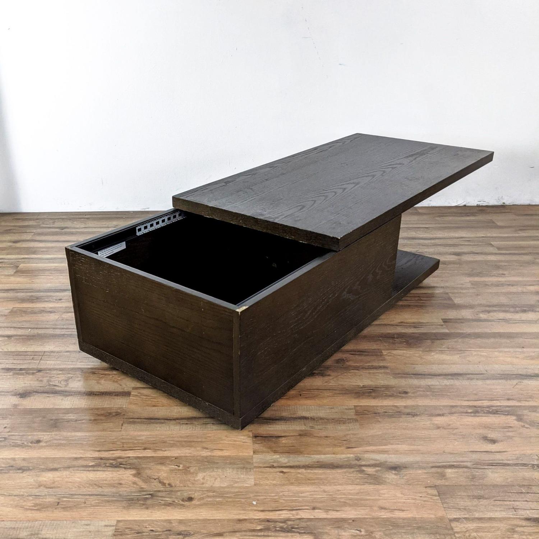 West Elm Sliding Top Storage Coffee Table - image-3