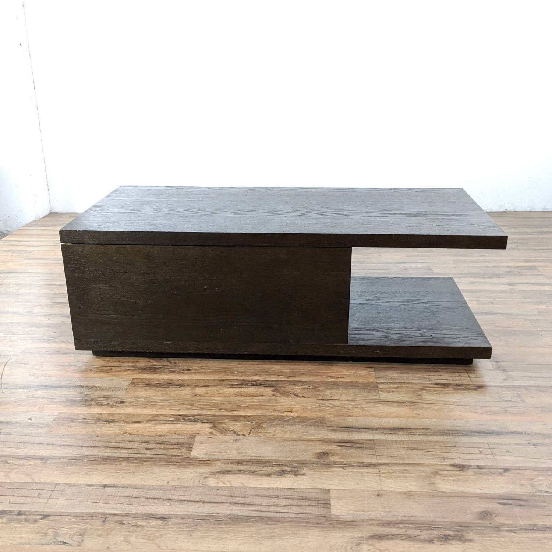 West Elm Sliding Top Storage Coffee Table - image-7