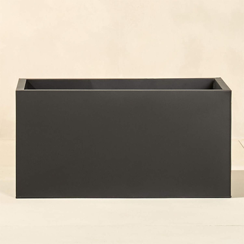 "CB2 Blox Planter Charcoal 32"" - image-1"