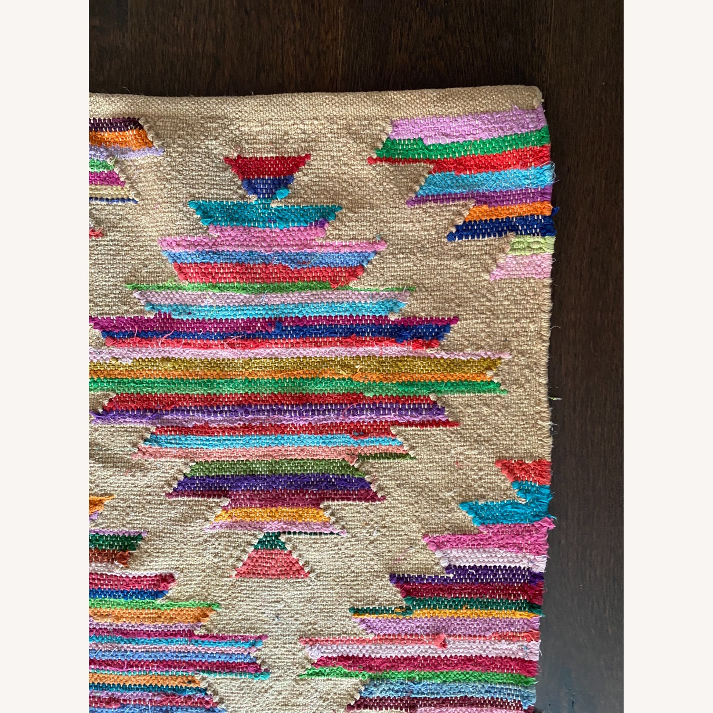 CB2 Panja Rug - Colorful Pattern Runner - image-3
