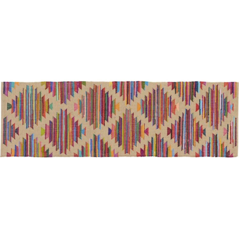 CB2 Panja Rug - Colorful Pattern Runner - image-4