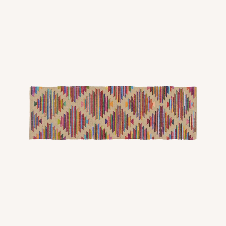 CB2 Panja Rug - Colorful Pattern Runner - image-0
