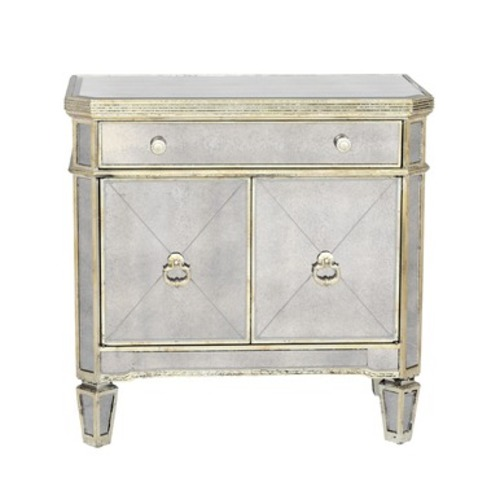 Used Z Gallerie Borghese Mirrored Nightstand for sale on AptDeco