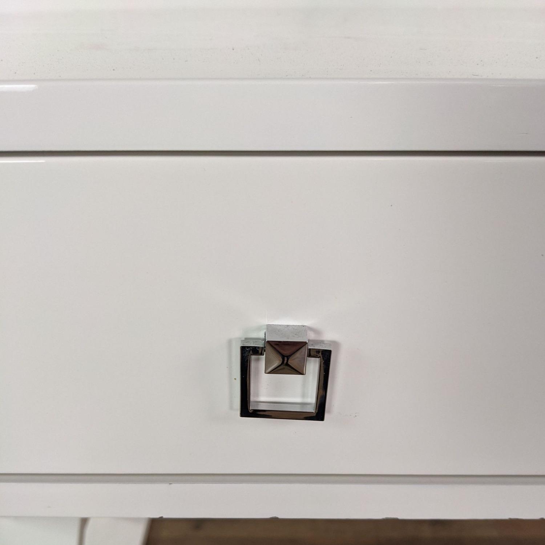 Z Gallerie White Lacquered Desk - image-6
