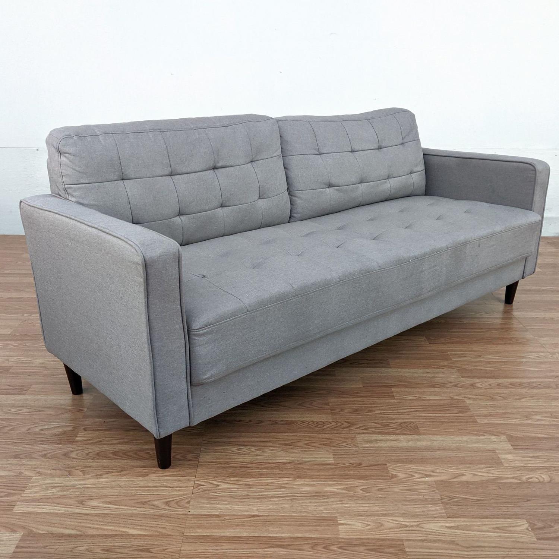 Zinus Gray Upholstered Sofa - image-2