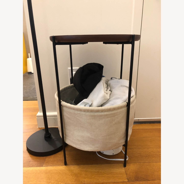 Rivet Meeks Round Side Table with Basket - image-3