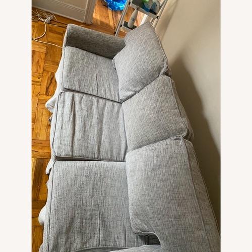 Used Pottery Barn Grey- White Basic Sleeper Sofa for sale on AptDeco