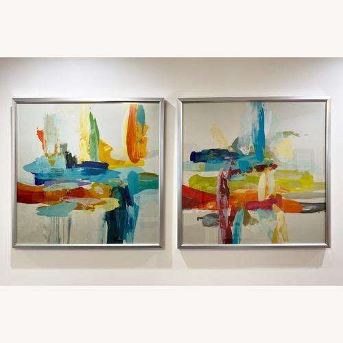 Used Z-Gallerie  Bold & Vibrant Wall Art: Synergy 1 & 2 for sale on AptDeco