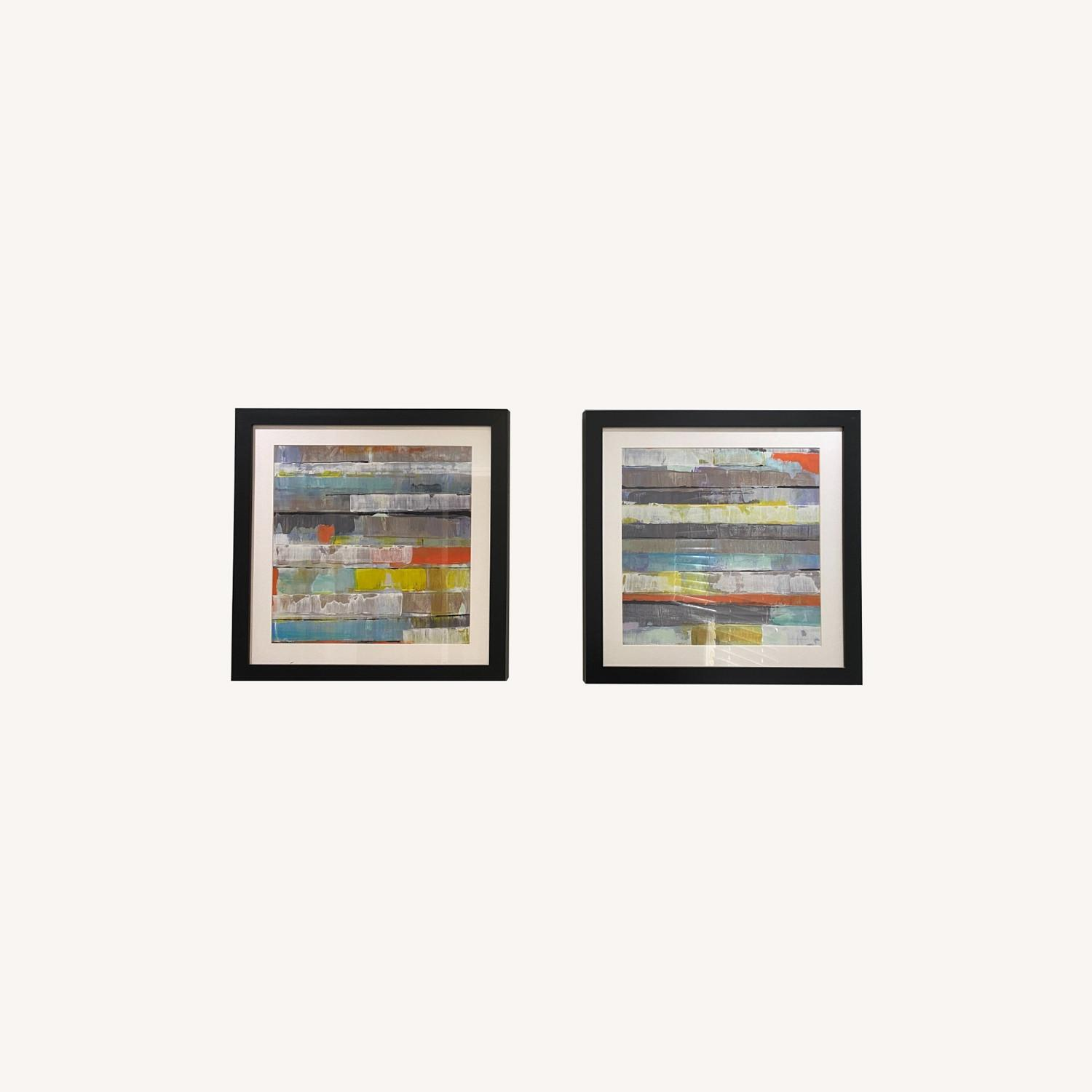 Abstract Z-Gallerie Wall Art: Metro 1 & 2 - image-0