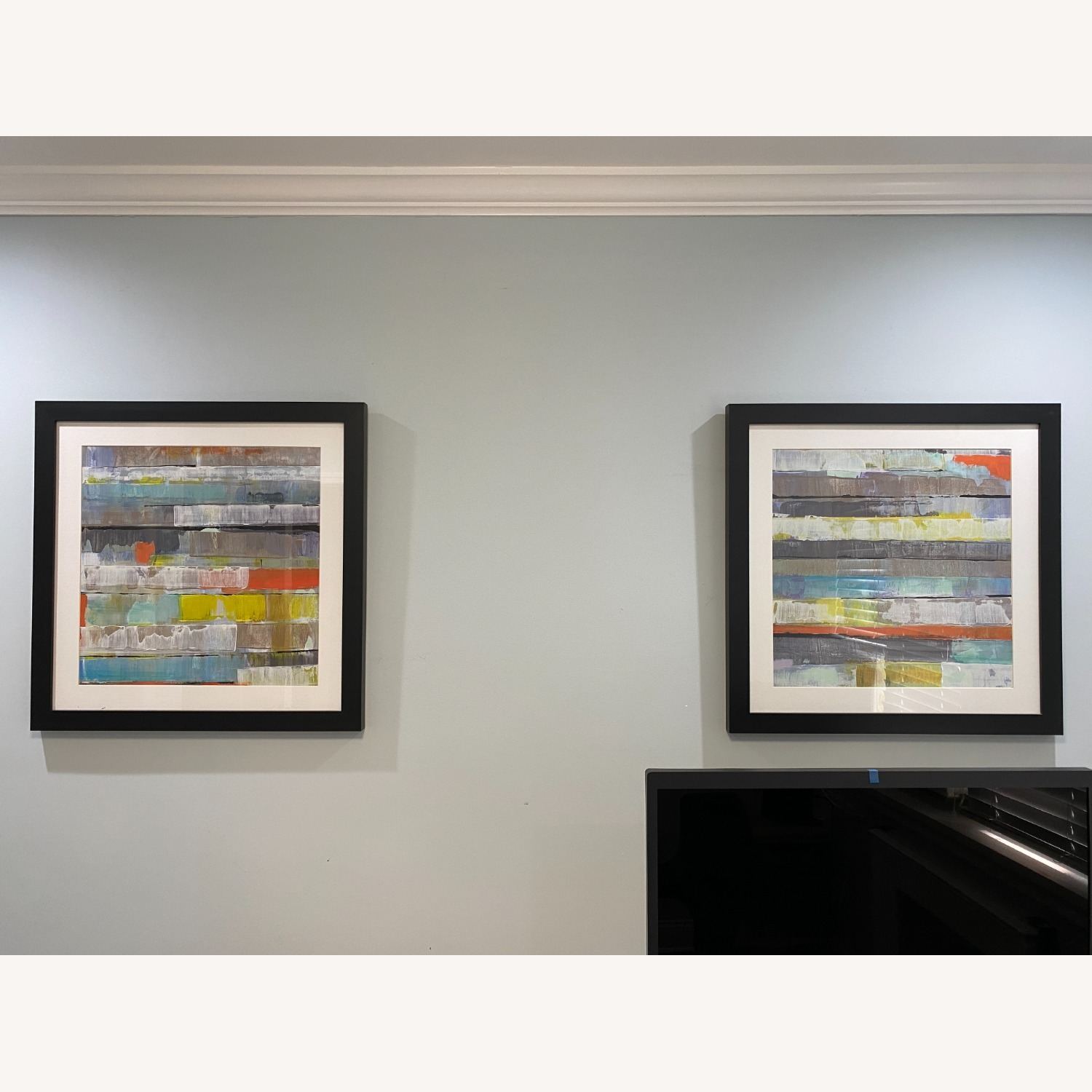 Abstract Z-Gallerie Wall Art: Metro 1 & 2 - image-1