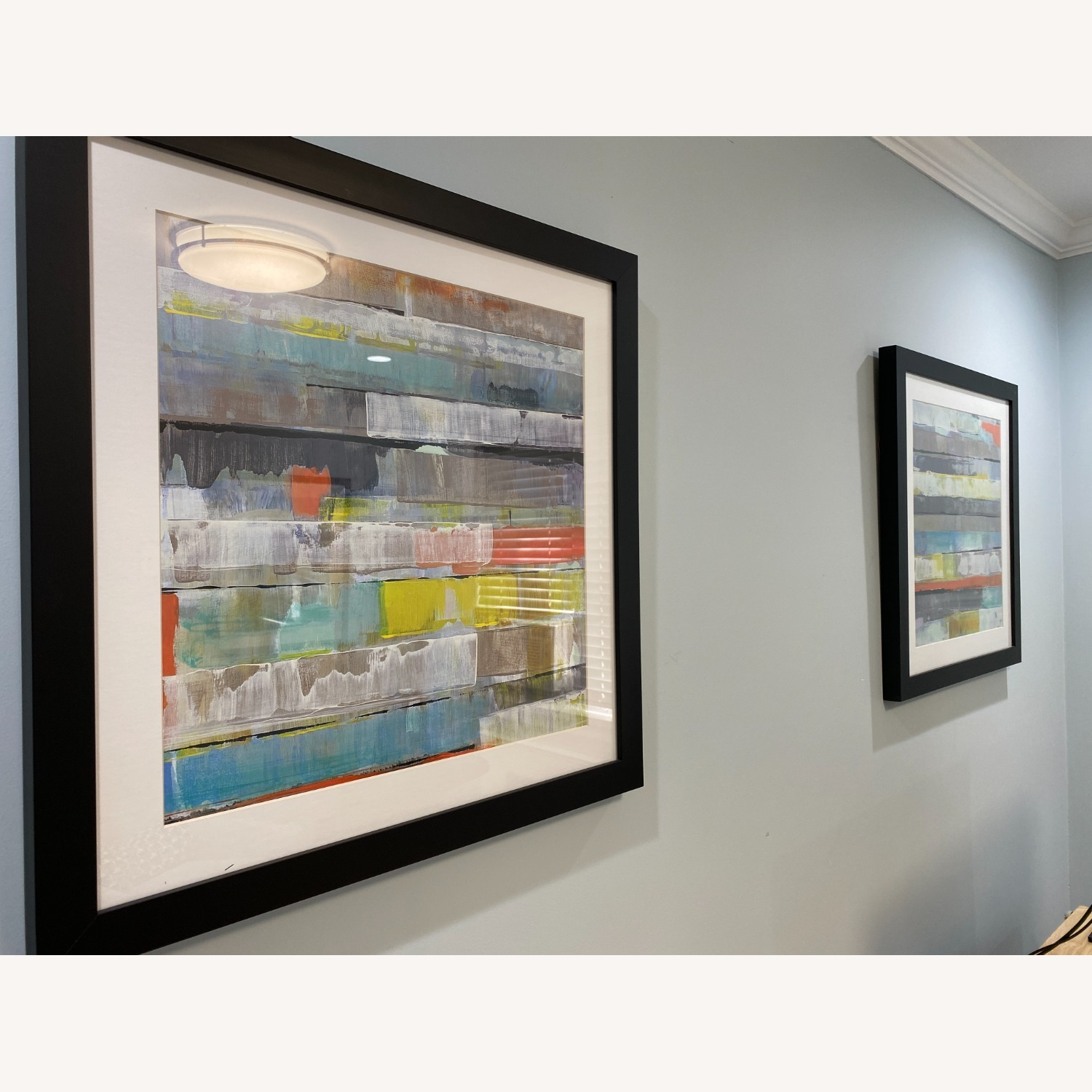 Abstract Z-Gallerie Wall Art: Metro 1 & 2 - image-2