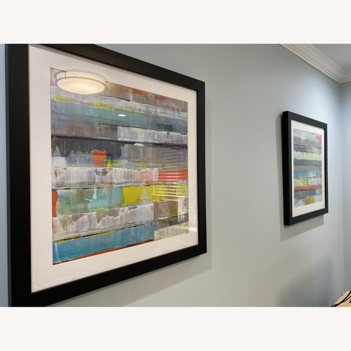 Used Abstract Z-Gallerie Wall Art: Metro 1 & 2 for sale on AptDeco