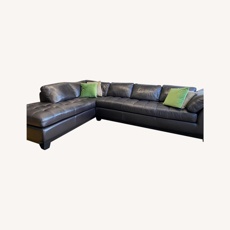 Scandinavian Designs Evelina Leather Sectional - image-0