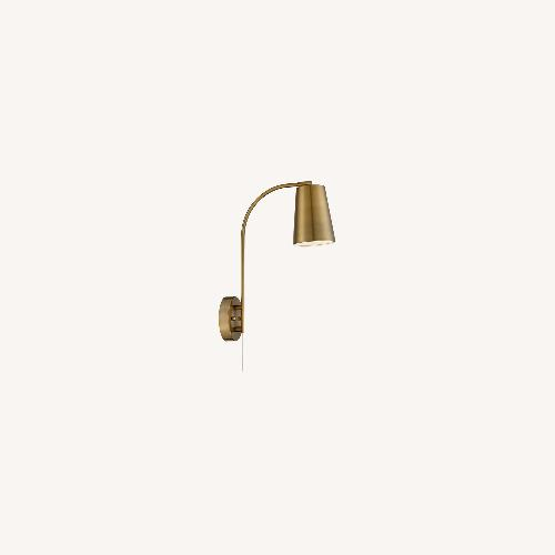 Used Sully Modern Wall Lamp Warm Brass (Plug-in) for sale on AptDeco