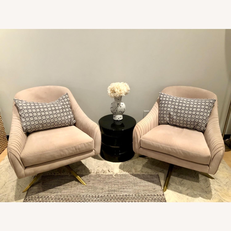 West Elm Roar Rabbit Swivel Chairs - image-1