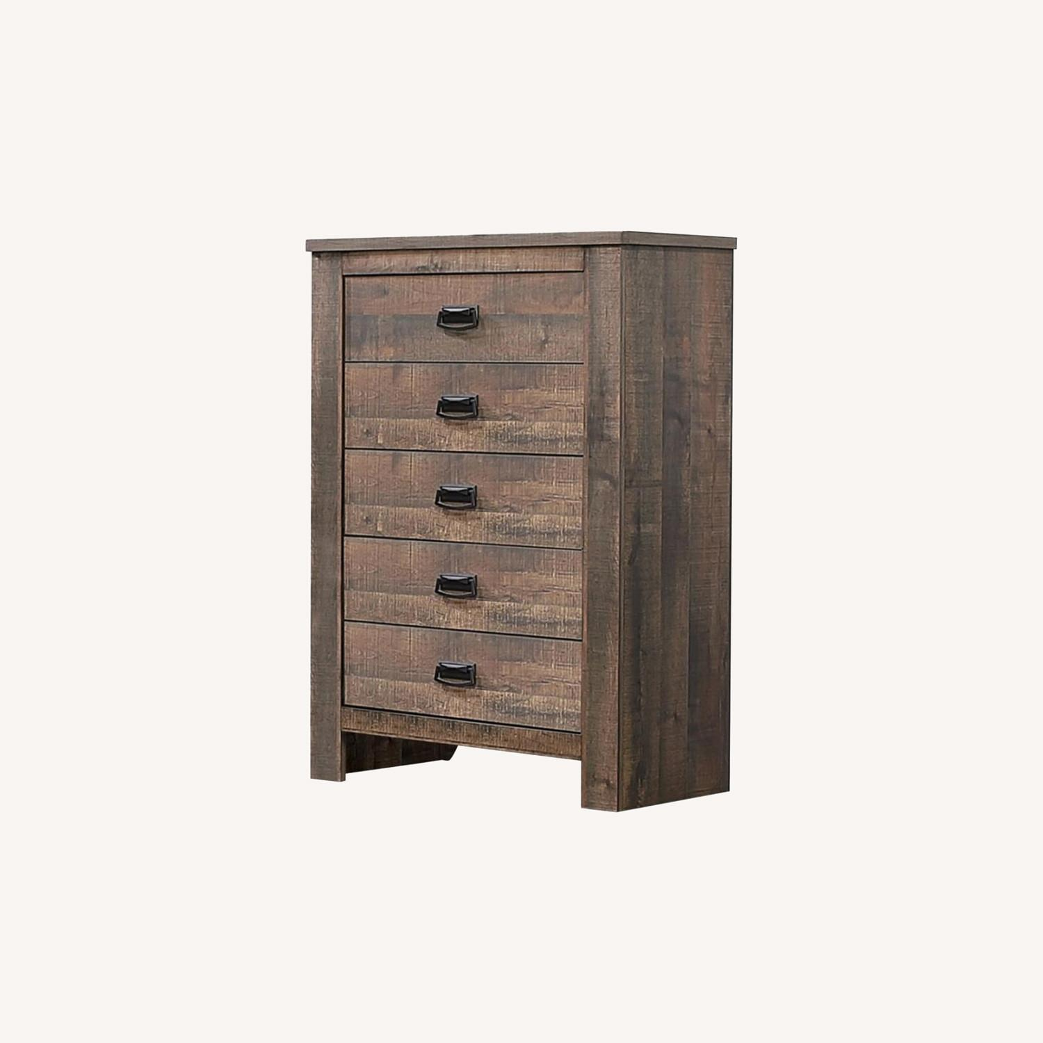 Chest In Weathered Oak Finish W/ Bail Handle - image-3