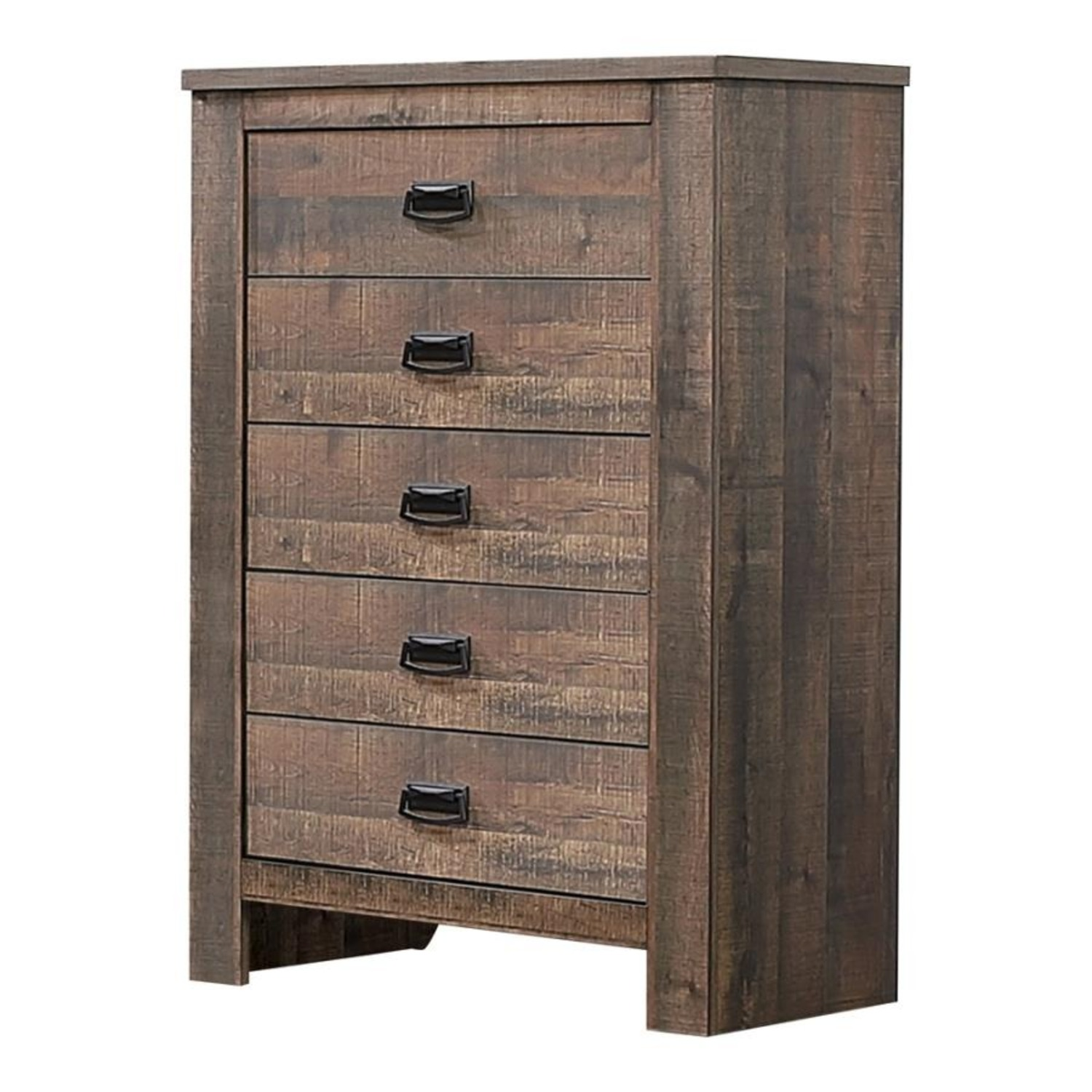 Chest In Weathered Oak Finish W/ Bail Handle - image-0