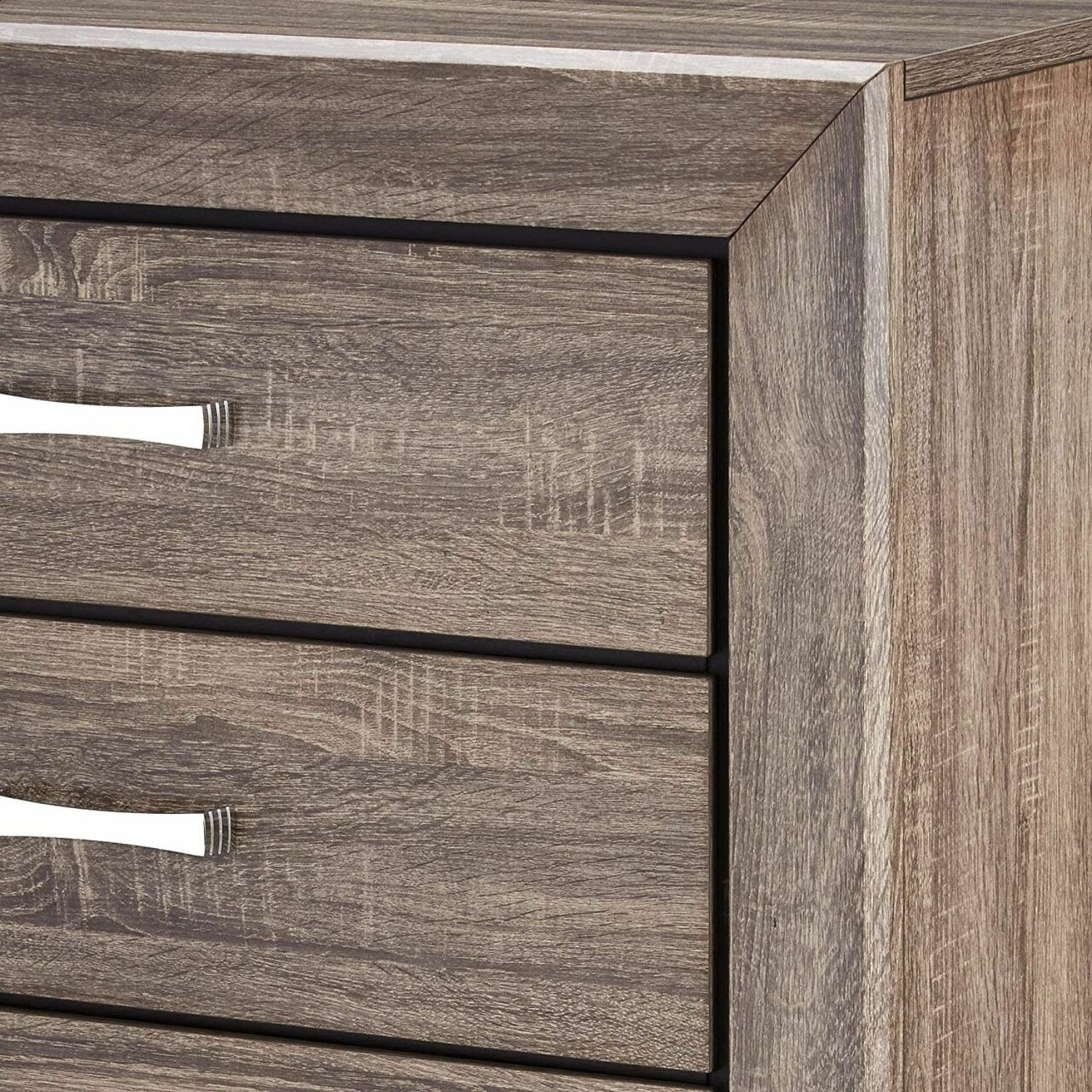 Chest In Washed Taupe Finish W/ Chrome Handles - image-4