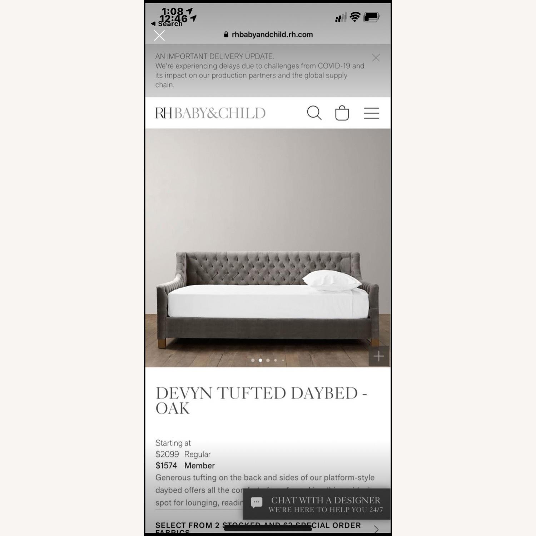 Restoration Hardware Twin Tufted Bed - image-4