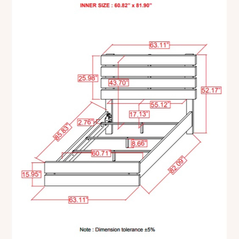 Queen Bed In Barrel Oak W/ 3D Paper Laminate - image-2