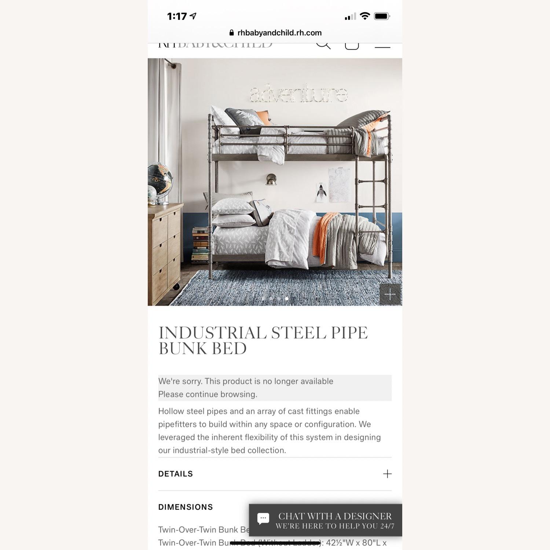 Restoration Hardware Industrial Steel Pipe Bunk Bed - image-1