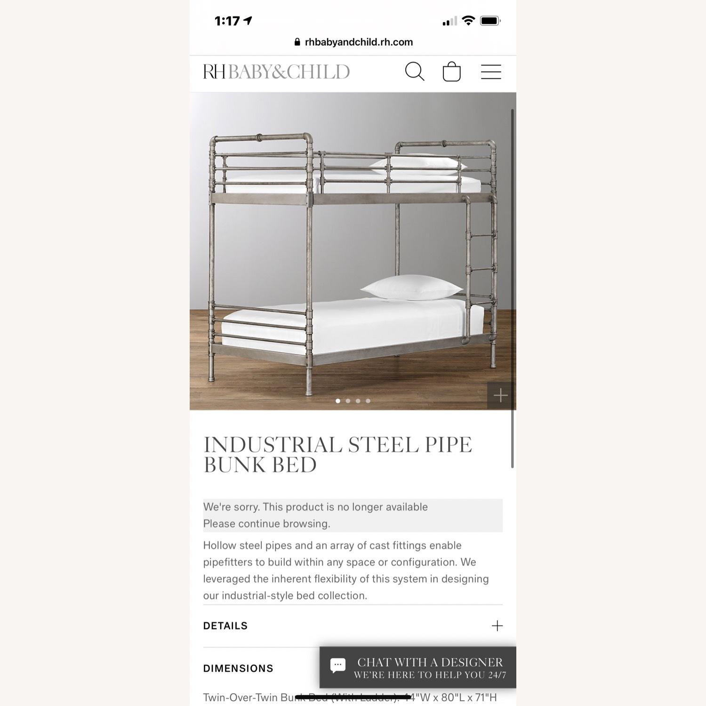 Restoration Hardware Industrial Steel Pipe Bunk Bed - image-4