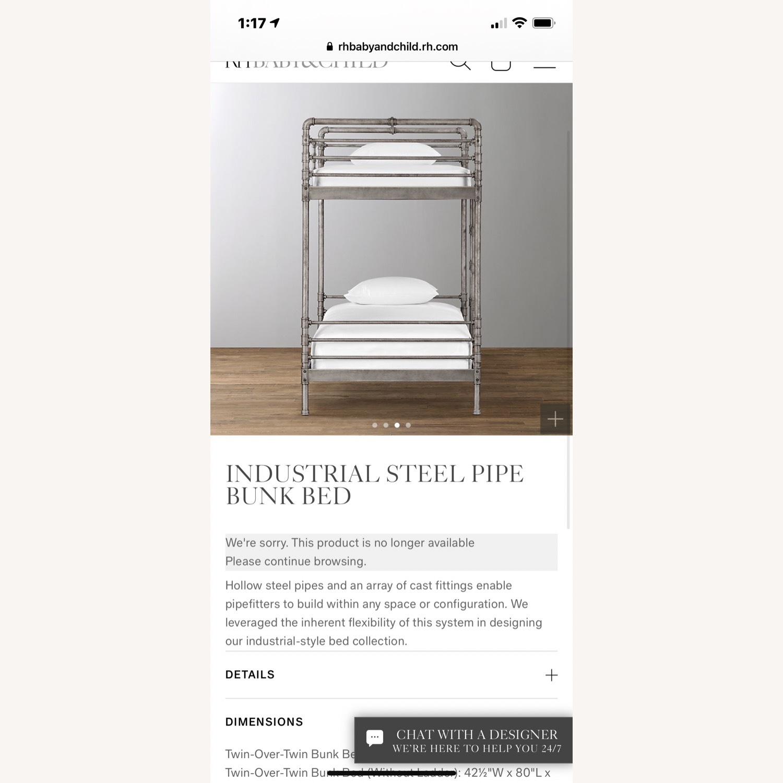 Restoration Hardware Industrial Steel Pipe Bunk Bed - image-2