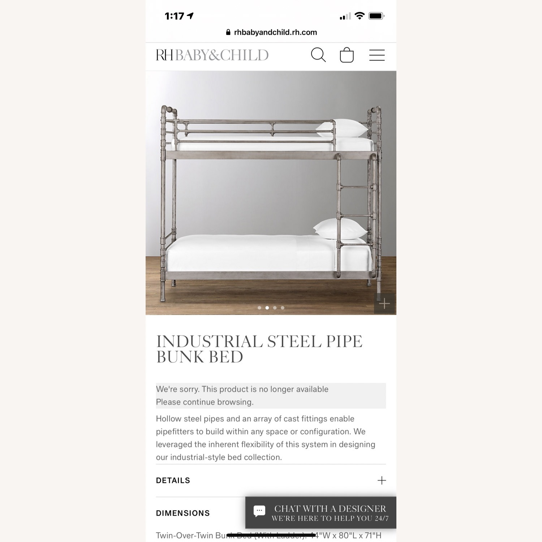 Restoration Hardware Industrial Steel Pipe Bunk Bed - image-3