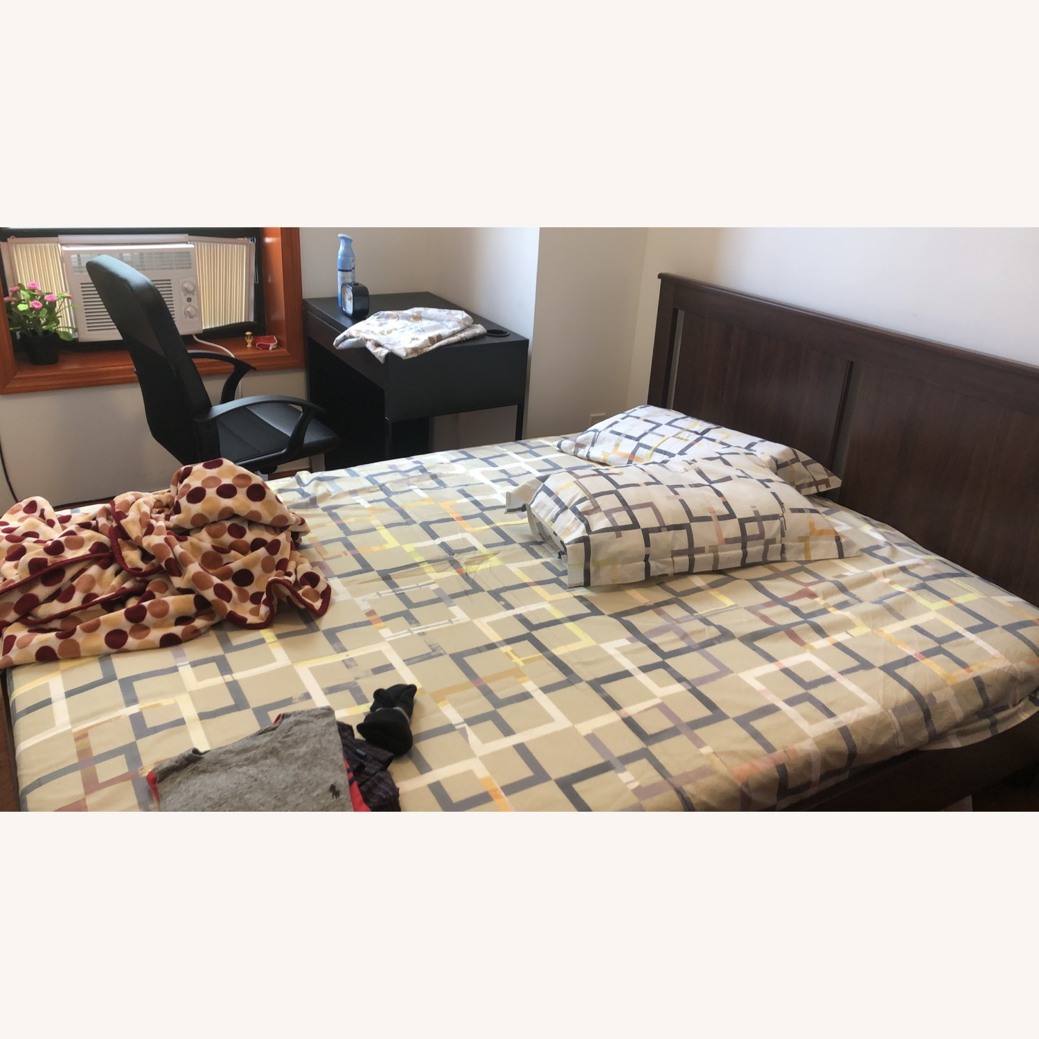 IKEA Queen Size Bed with Underbed Storage Drawers - image-1