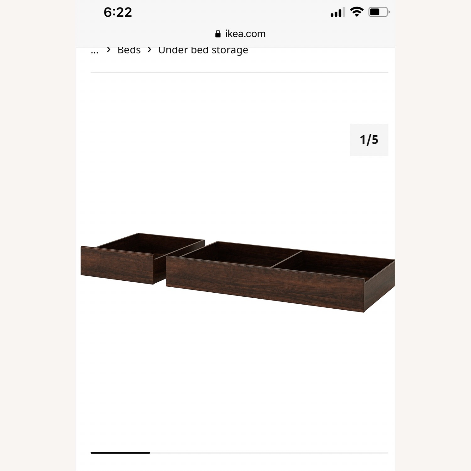 IKEA Queen Size Bed with Underbed Storage Drawers - image-3