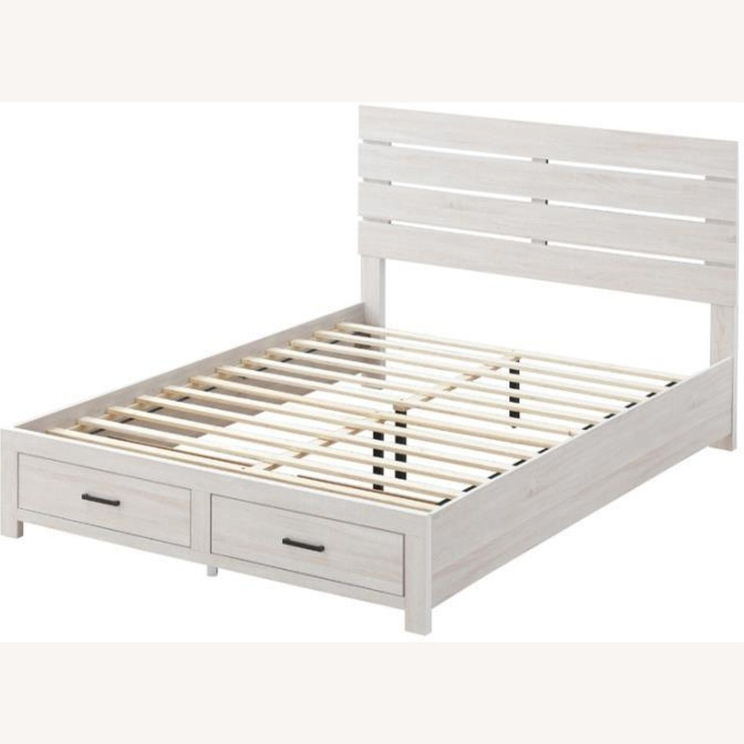 King Bed In Coastal White W/ 3D Paper Laminate - image-1