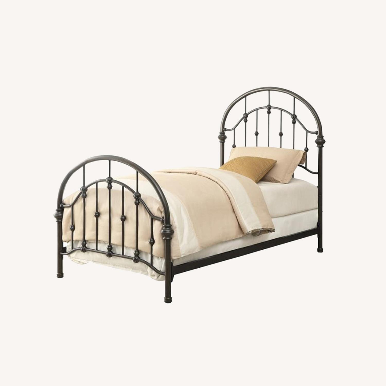 Twin Bed In Canopy Design Dark Bronze Finish - image-3