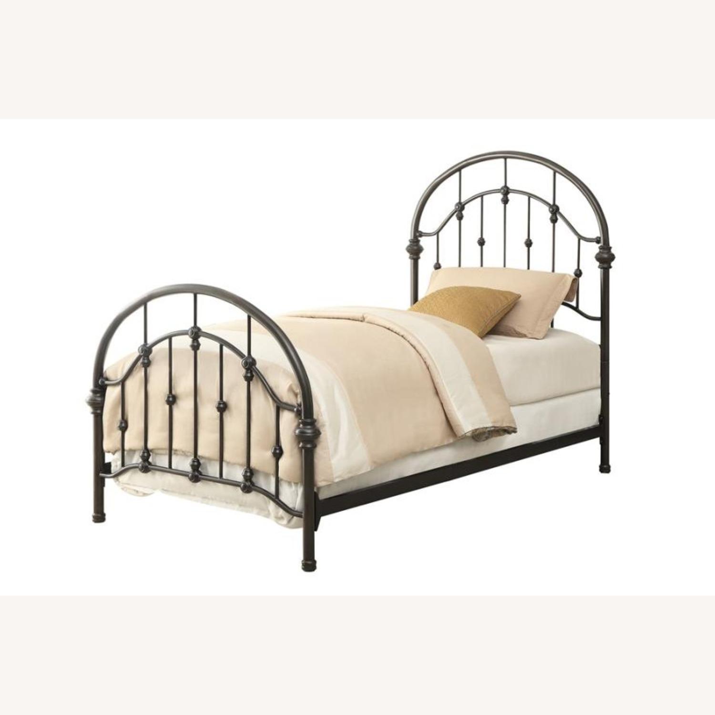 Twin Bed In Canopy Design Dark Bronze Finish - image-1