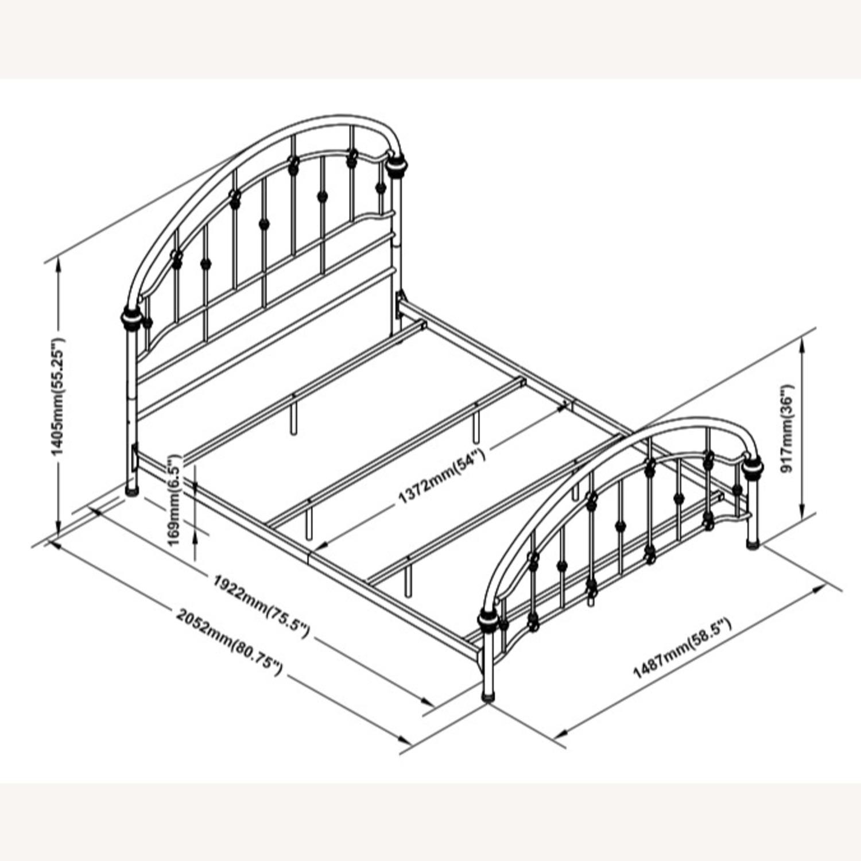 Twin Bed In Canopy Design Dark Bronze Finish - image-2