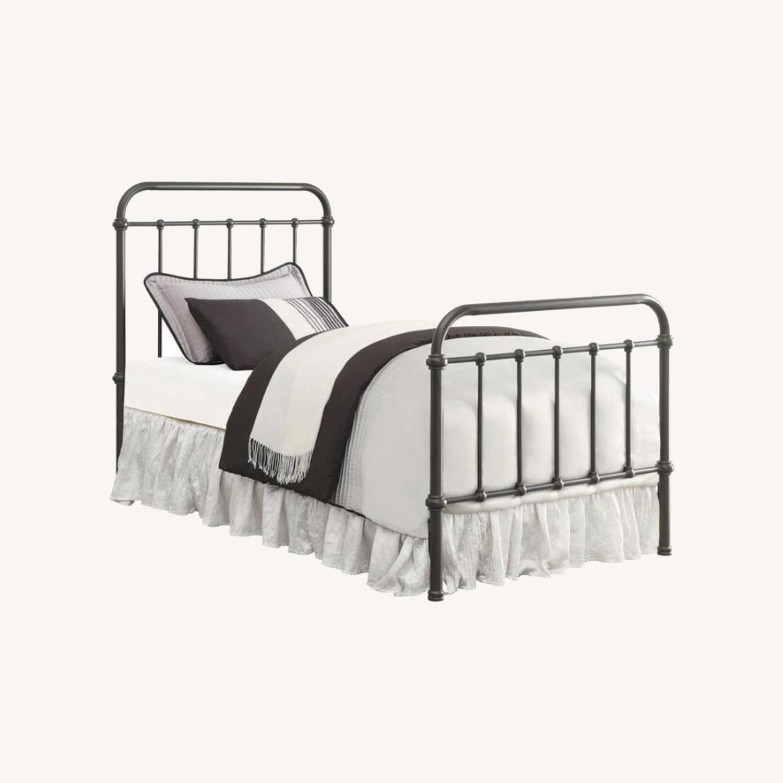 Twin Bed In Dark Bronze Heavy Gauge Steel Finish - image-3
