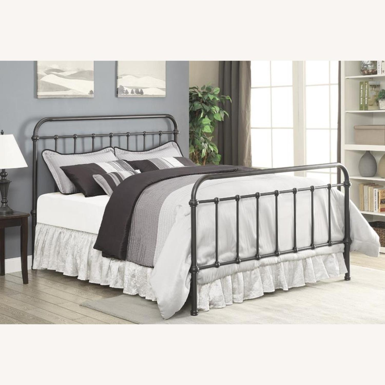 Twin Bed In Dark Bronze Heavy Gauge Steel Finish - image-1