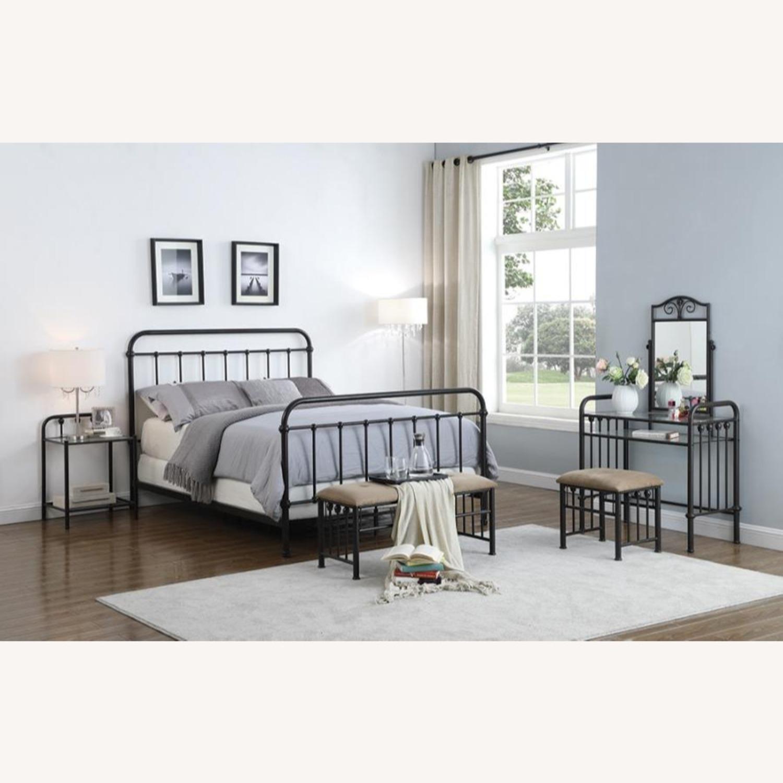 Full Bed In Dark Bronze Heavy Gauge Steel Finish - image-2