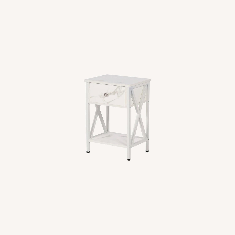 Wayfair White & Marble Nightstands - image-0