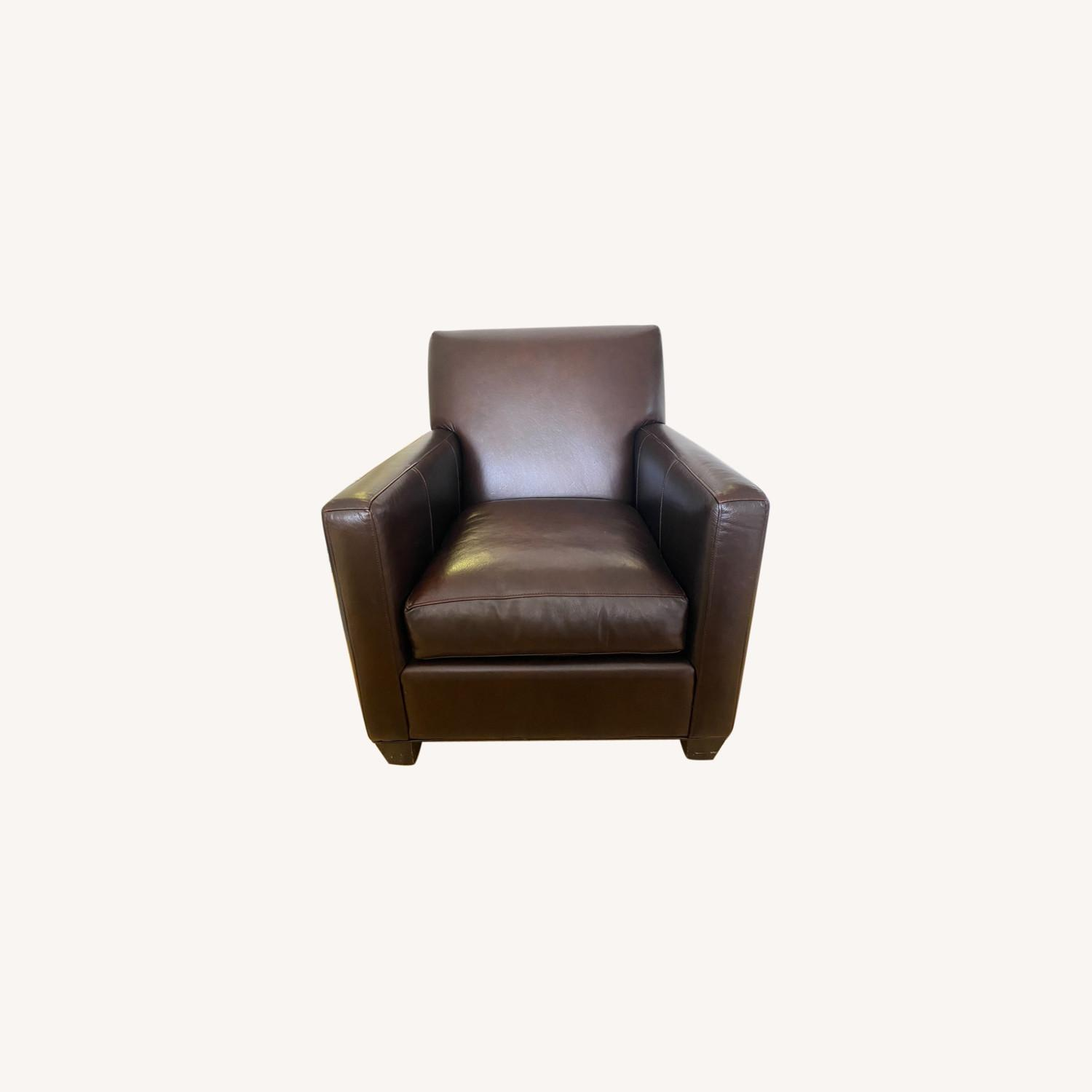 Crate & Barrel Leather Chair - image-0