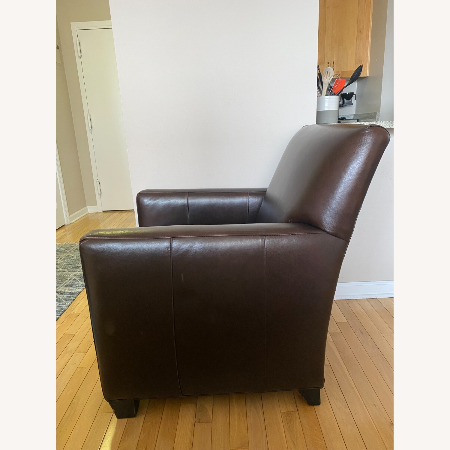 Crate & Barrel Leather Chair - image-3